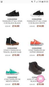 Children's converse 50% off sale at Panache Kids Prices from £13.50 (C+C Free / £4.95 P&P per order)