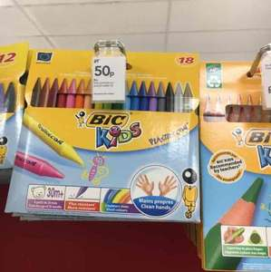 BIC Kids Plastidecor Crayons 18pk 50p instore at Wilko Jarrow