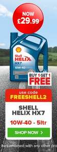 Shell Helix HX7 Engine Oil 5ltr - £29.99 Buy one get one free with code (£15 per unit) - Online @ Eurocarparts