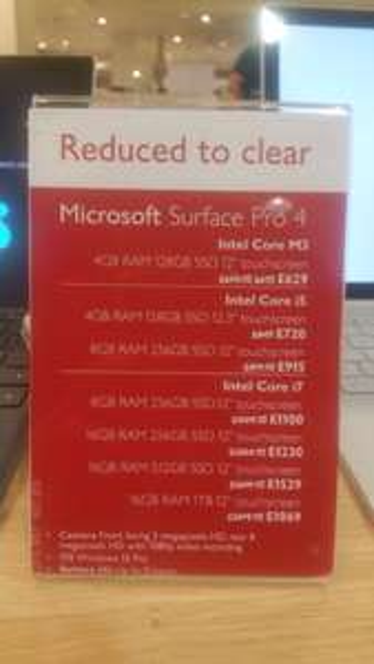 Microsoft surface - £629 instore @ Waitrose Canary Wharf