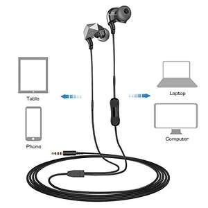 Sound Intone E6 In-Ear Headphones with Mic & Volume Control for iPhone / Android Smartphones / MP3 / 3.5mm Devices in Black £4.99 Prime / £8.98 Non Prime @ Amazon (sold by Aoke Union Direct and FBA).