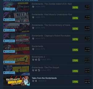 Borderlands, Take over your life edition SO DAM GOOD £2.99 @ Steam