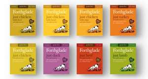 Forthglade Just Meat 90% Range Grain Free 18 x 395g £14.28 + £3.99 Delivery Or Free with orders over £29 @ Vetuk