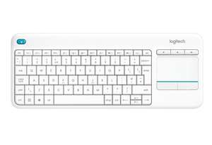 Logitech K400 Plus Wireless Touch Keyboard for Windows, Android and Chrome - QWERTY, UK Layout, White, 2 years warranty was £24.99 now £16.25 (Prime) £21 non prime @ Amazon