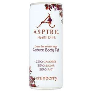 Aspire Cranberry/Apple & Acai 250ml 39p in Home Bargains colchester