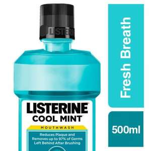 Listerine Cool Mint Anti-Bacterial Mouthwash 500ml £1.71 @ Superdrug