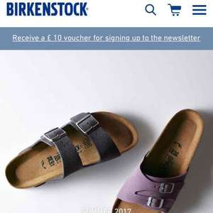 £10 off £50 at Birkenstock when you sign up to the newsletter