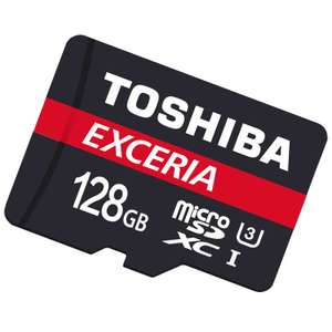 Toshiba 128GB Exceria M302 micro SD Card +adaptor Class 10 4K 90MB/s 5 YEARS WARRANTY (£10 cheaper than Amaz*n) @ BT Shop £33.97 delivered