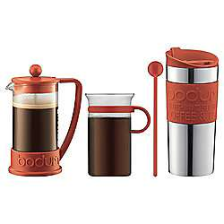 Bodum Cafetiere, Coffee and Travel Mug Gift Set (Red OR Black) was £40, now £20 **Now £17.50** @ Tesco Direct
