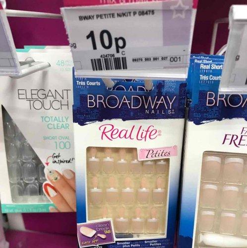 10p broadway nails (fake nails) at superdrug - 10p instore (Whiteley)