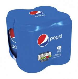 Pepsi (or Pepsi Diet or Pepsi Max) 4 x 330 ml for just £1.00 till Sunday 2nd July @ Poundstretcher