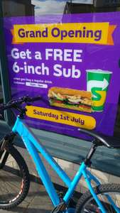 Free 6 inch sub with a regular drink @ Subway Wolverhampton