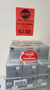 Coca Cola Diet Coke 10 x 330ml - 2 for £6 (or £3.50 each) at B&M