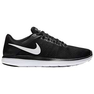 Nike Flex 2016 RN Men's Running Shoes, Black/White (Reduce to clear) at John Lewis for £40