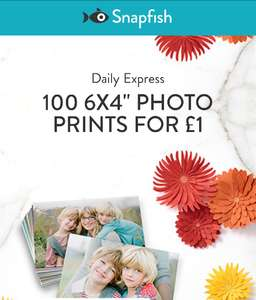 Snapfish 100 6x4 prints £3.99 inc p+p
