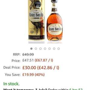 wild turkey rare breed from Amazon £30 [lightning deal]