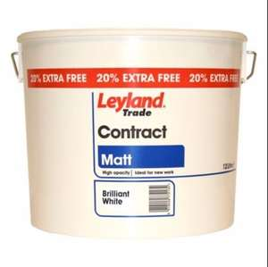 Leyland Trade paint and undercoat 3 x 12 Litres for £40 @ B&Q
