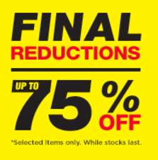 Upto 75% off sale at jdsports