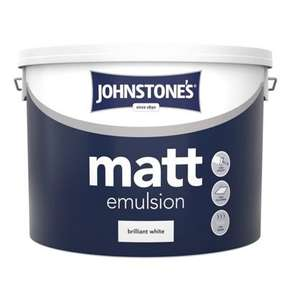 Johnstone's Brilliant White - Matt Emulsion - 10L= £10 @.homebase