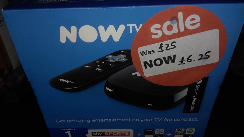 Now TV box £6.25 @ Asda