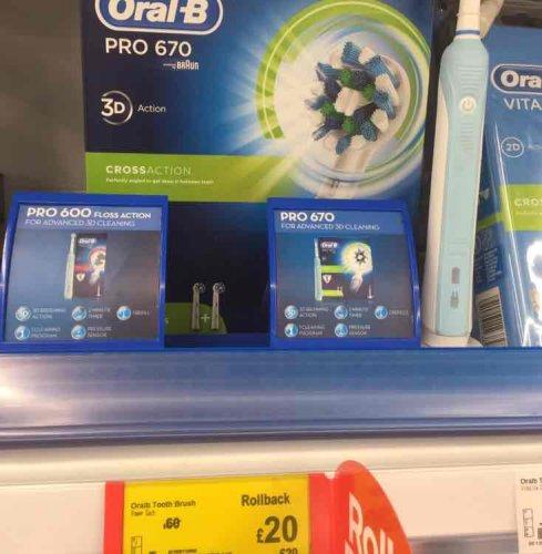 Electric toothbrush £20 @ Asda