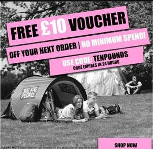Camping World Free £10 voucher, no minimum spend