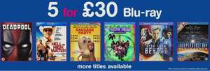 HMV 5 Blu-Ray for £30 - selection of over 2000 titles!