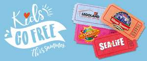 Kids Go Free To Merlin Attractions with 1 full paying adult. e.g purchase individual White Split Roll 15p  to recieve Voucher on LIDL reciept