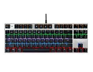 hcman tenkeyless backlit mechanical keyboard (blue switches) £24.99 delivered Sold by XLF Direct and Fulfilled by Amazon