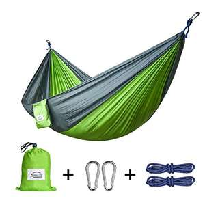 Apriller 2 Person Parachute Hammock max 661lb £16.19 Delivered Prime / £20.94 non-prime Sold by Apriller EU and Fulfilled by Amazon