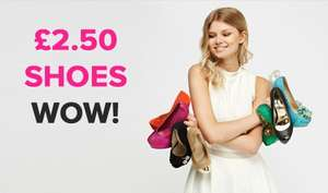 50% off on shoes £2.50 + p&p from £3.95 @ Everything £5