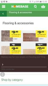 Wooden flooring deals and tiling clearance at Homebase