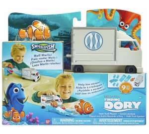 Loads of Finding Dory toys reduced to clear eg Hank Truck Playset now £3.99, Mini plushes with sound now £2.49 @ Argos