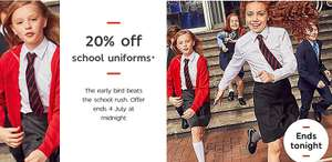 Last chance to get 20% off Marks and Spencer school uniform