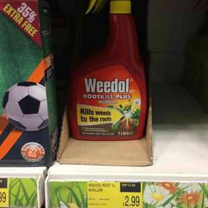 1ltr of Weedol Weedkiller was £4.99 now £2.99 B&M