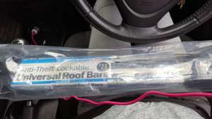 ANTI THEFT LOCKABLE universal roof bars instore - £7 @ The Original Factory Shop
