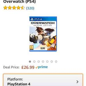 Overwatch PS4 £26.99 @ Amazon