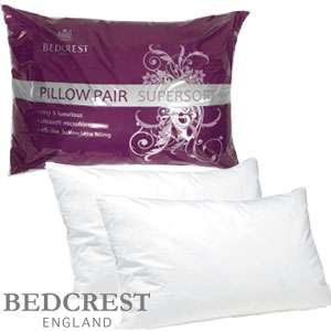 Bedcrest Supersoft Microfibre Pillow Pair £3.99 @ Home Bargains
