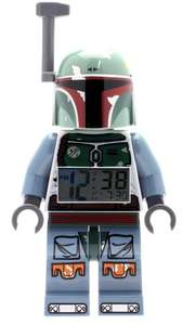 LEGO Star Wars Boba Fett Kids Minifigure Light Up Alarm Clock Was £24.99 Now £14.00 prime / £18.75 non prime @ Amazon