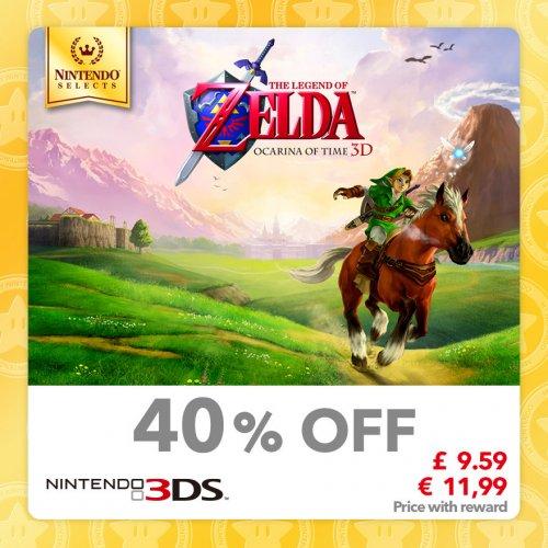 Zelda Ocarina of Time [3DS] £9.59 [60 Gold Points] & More @ Mynintendo