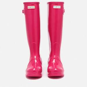 Hunter Women's Original Tall Gloss Wellies - Bright Pink @ The Hut £27 (+£1.99 del)