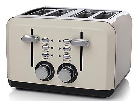Haden Perth 4-Slice Toaster – Cream or Sleek Stainless Steel £19.93 @ Robert Dyas (Free C+C)
