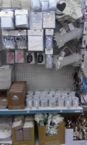 New wedding section at Poundland items £1 each.