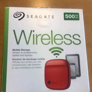 Seagate Wireless 500gb mobile storage £39.99 at Rymans In-store only