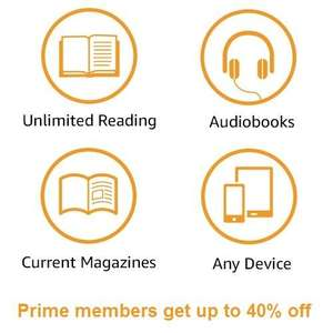 Up to 40% off Kindle Unlimited for Amazon Prime members