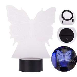 Seitech 3D USB Multi Color Butterfly Lamp Lightning Deal £6.79  was £23.99 Prime Member price (£10.78 non Prime) - Sold by Seiitech.store and Fulfilled by Amazon.