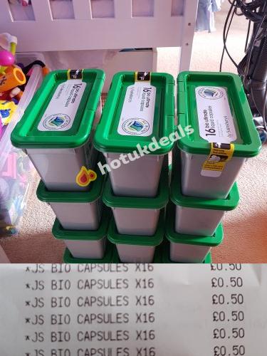 bio ultimate liquid capsules x16 for 50p @ sainsburys