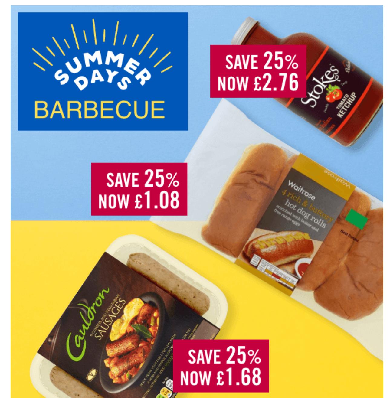25% off Cauldron sausages & Stokes ketchup @ Ocado
