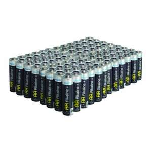 100 AA or AAA alkaline batteries for £14.99 from Maplins