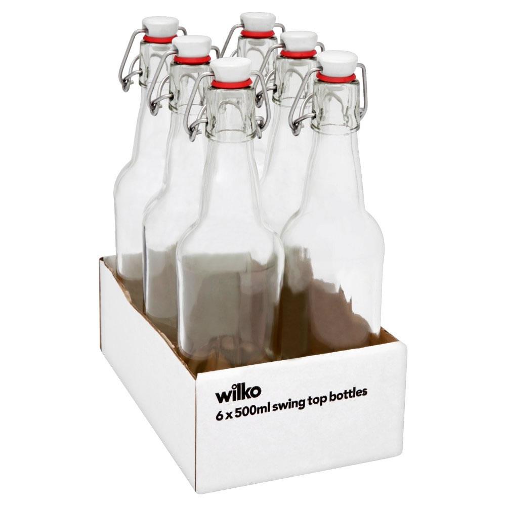 Wilko Swing Top Bottles 500ml Tray of 6 £8.00
